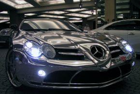 Mercedes Benz van Wit Goud