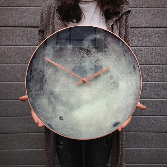 moon-wall-clock