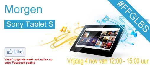 Morgen kun je in de #FFGLBS een Sony Tablet S winnen!