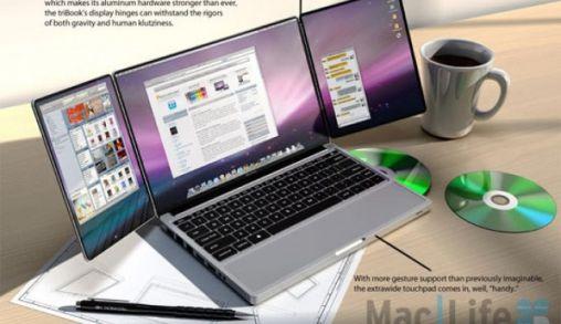 Nieuw Design MacBook met Tripple scherm of..?