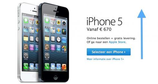 Nieuwe prijzen iPhone 5 na BTW-verhoging