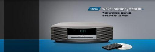 Nieuwe Wave radio III en Wave music system III van Bose