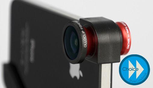 Olloclip met FishEye, Wide-Angle en Marco Lens voor iPhone 4(S)