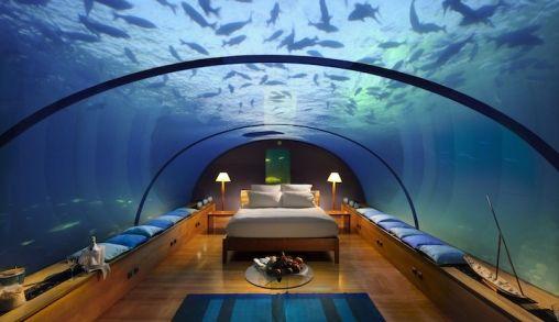 Onderwater slapen op de Malediven