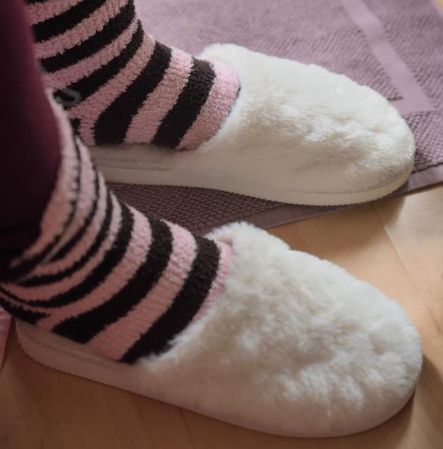 Pantoffels thuiswerken