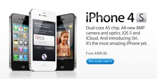Pre-order iPhone 4S in de VS, DE of UK