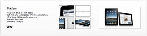 Prijs iPad in Engeland (gerucht)