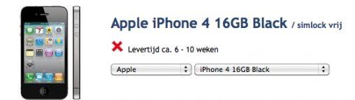 Prijzen iPhone 4 Bekend