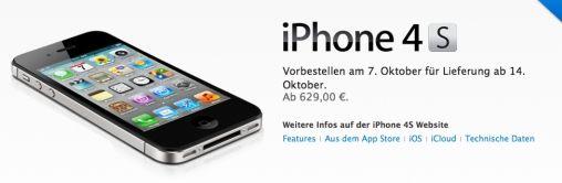 Prijzen iPhone 4S