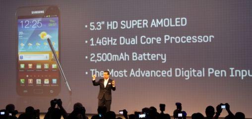 Samsung introduceert de Samsung Galaxy Note