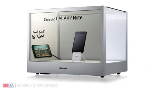 Samsung introduceert transparant display