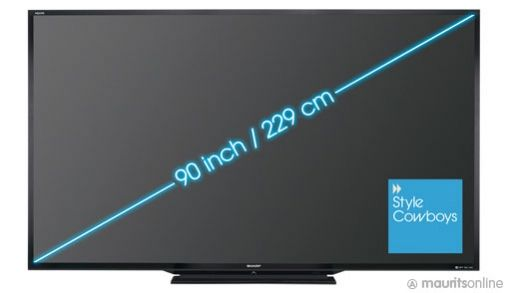 Sharp presenteert 90 inch 3D LED TV