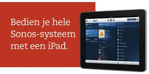 Sonos Controller for iPad met Spotify
