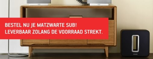 Sonos Sub in matzwart € 100 goedkoper