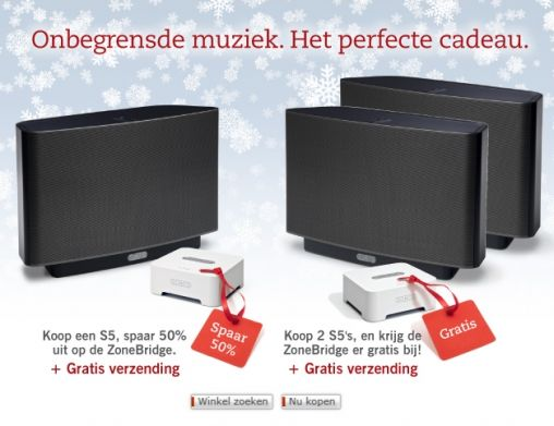 Sonos Zone Bridge Kerst