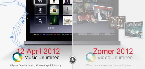 Sony Music Unlimited 12 april in Nederland