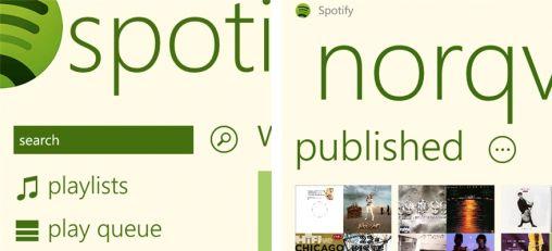 Spotify nu op Windows Phone 7