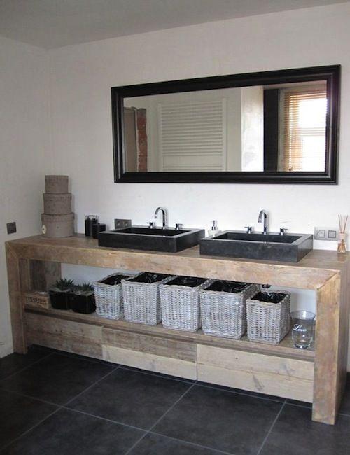 Steigerhout-badkamer