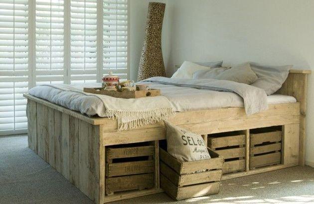 steigerhout-bed