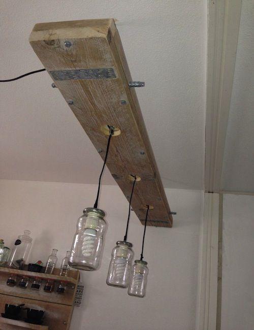 Steigerhout-lamp