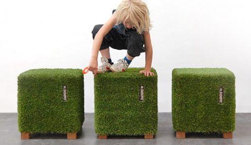 Stijlvol zitten op een 3D Grasveldje