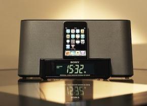 Stijlvolle iPod speaker docks en wekkerradio van Sony