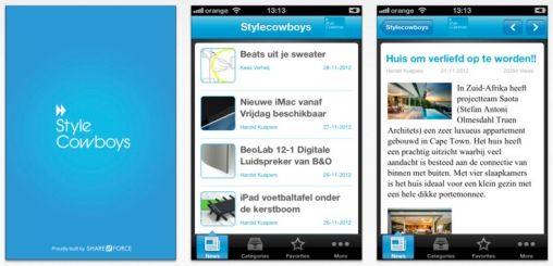 StyleCowboys iPhone & Android app nu te downloaden