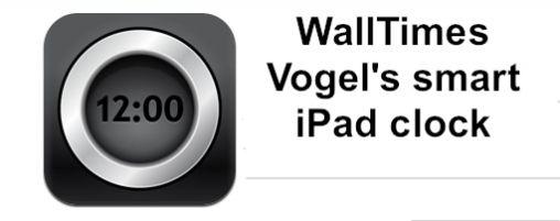 WALLTIMES: De Slimme iPad Klok van Vogel's