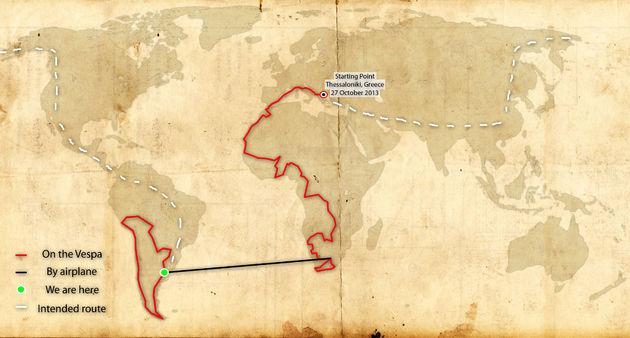 wereldreis-vespa