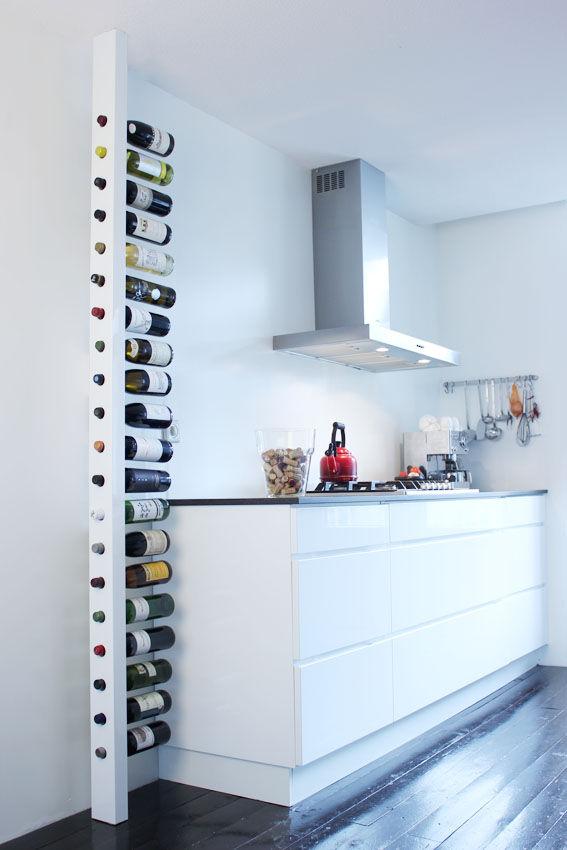 origineel wijnrek voor maar liefst 22 flessen. Black Bedroom Furniture Sets. Home Design Ideas