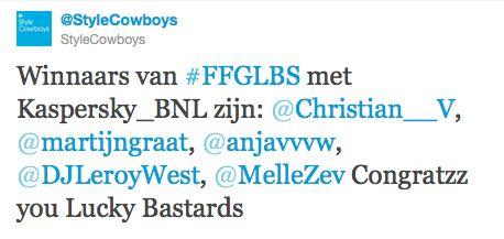 Winnaars FFGLBS Kaspersky