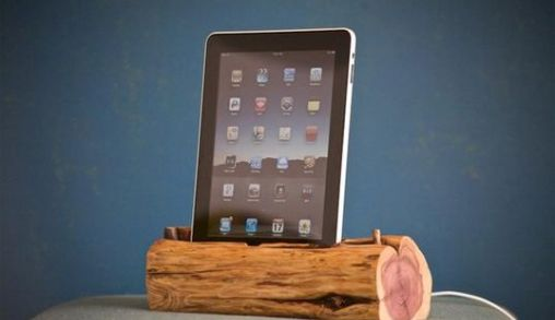 Woodtec iPad Dock
