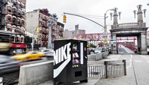 WOW! Nike automaat waar je kunt betalen door te sporten!