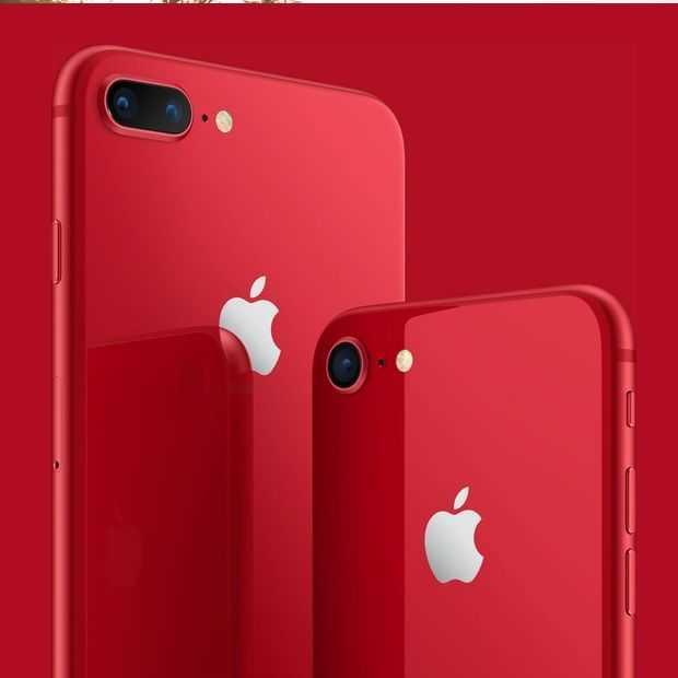 Check die mooie nieuwe rode iPhone 8 en 8 Plus