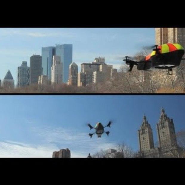 AR.FLYINGACE - Duel Central Park - 2 AR.Drone (App release i