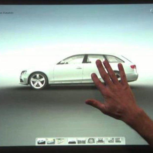 Audi samenstellen op Microsoft TouchTable