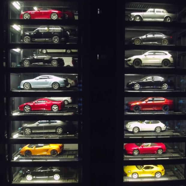 Speciale auto-automatiek in Singapore heeft alleen maar supercars