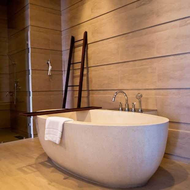 In deze badkamers wil je jezelf opsluiten!