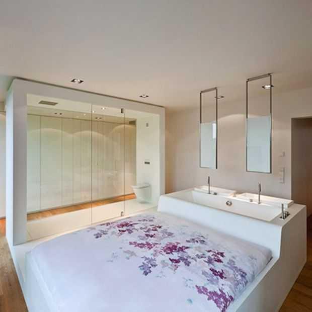 Bijzonder: deze ruimte is een slaapkamer, toilet en badkamer in één