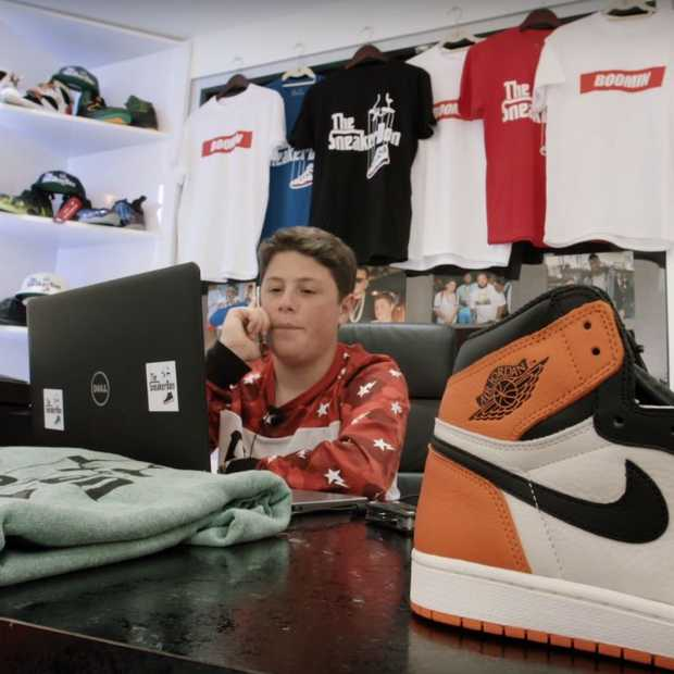 De 16-jarige Benjamin is de 'Godfather of sneakers'