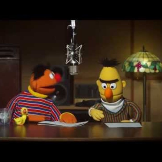 Bert and Ernie recording for TomTom GPS - behind the scenes