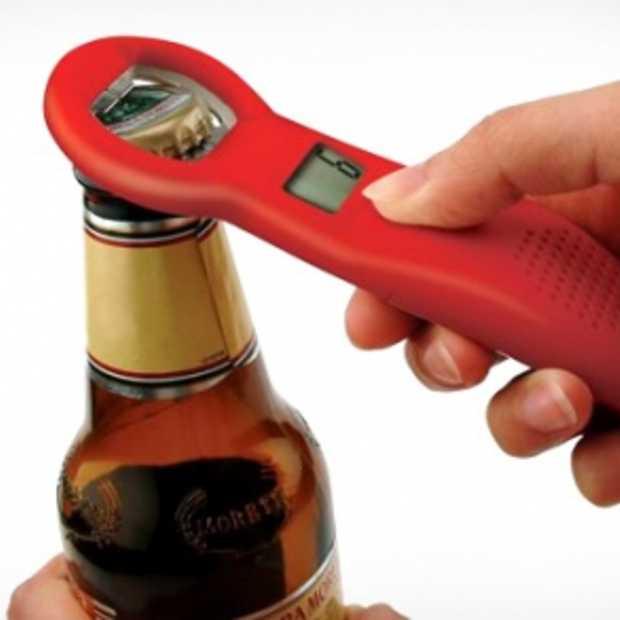 Bieropener die bijhoudt hoeveel biertjes je gedronken hebt