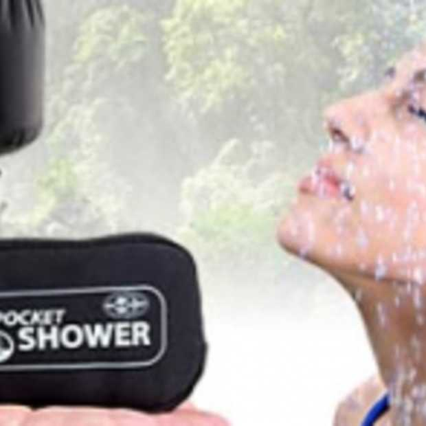 De Pocket Shower: draagbare douche