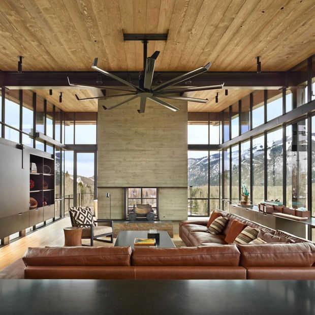 Geniet van deze hypermoderne mountain cabin in Idaho