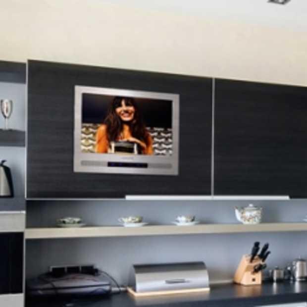 Design inbouw televisie voor keuken for Keuken tekenen programma