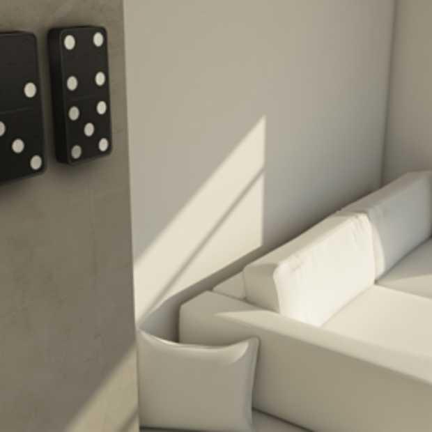 Domino-Klok by Carbon Design