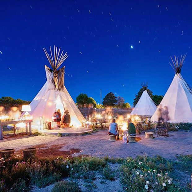 El Cosmico Hotel: slapen in een tipi tent onder de sterren