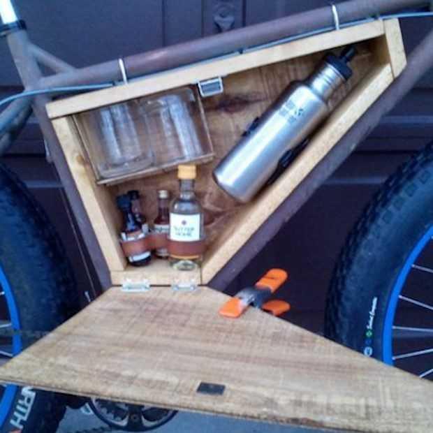 Een fiets met minibar maak je zo!