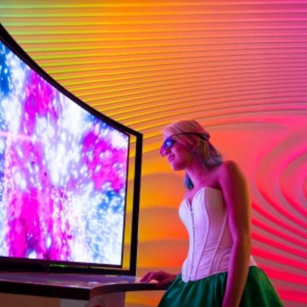 Gebogen OLED-TV van Samsung