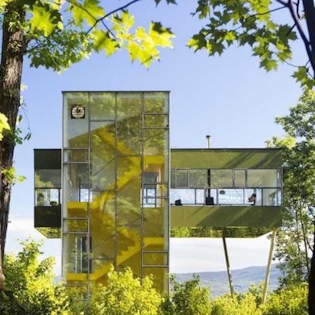 Binnen kijken in deze glazen toren in New York!